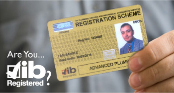 member with membership card -  Are you jib registered?